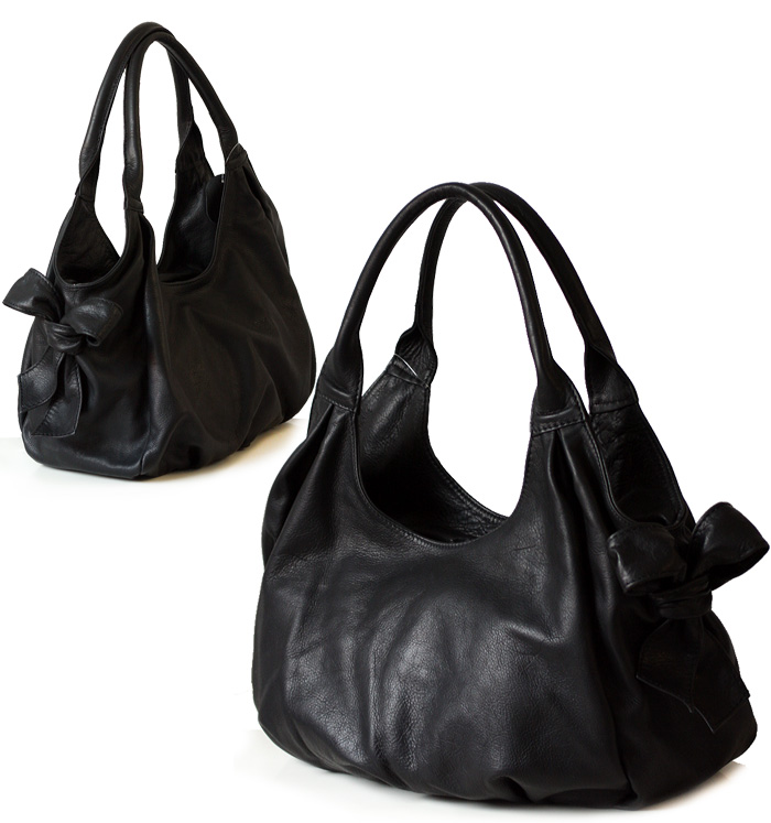 nappa leder handtasche schultertasche beuteltasche hobo bag schwarz. Black Bedroom Furniture Sets. Home Design Ideas